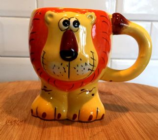 Fun Animal Shaped Children's Ceramic Mug ~ Lion